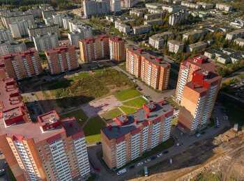Вид сверху на ЖК Зеленый город